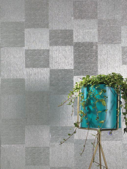 Metallic wallpaper Wallpaper Spirit silver Room View