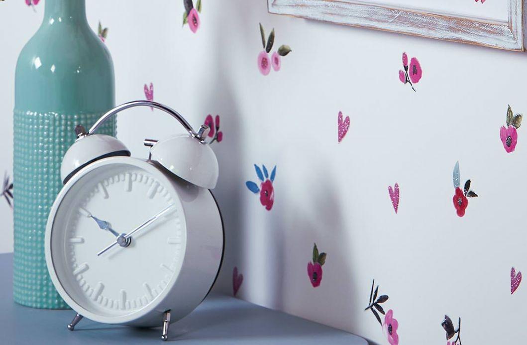 Floral Wallpaper Wallpaper Peppa cream Room View