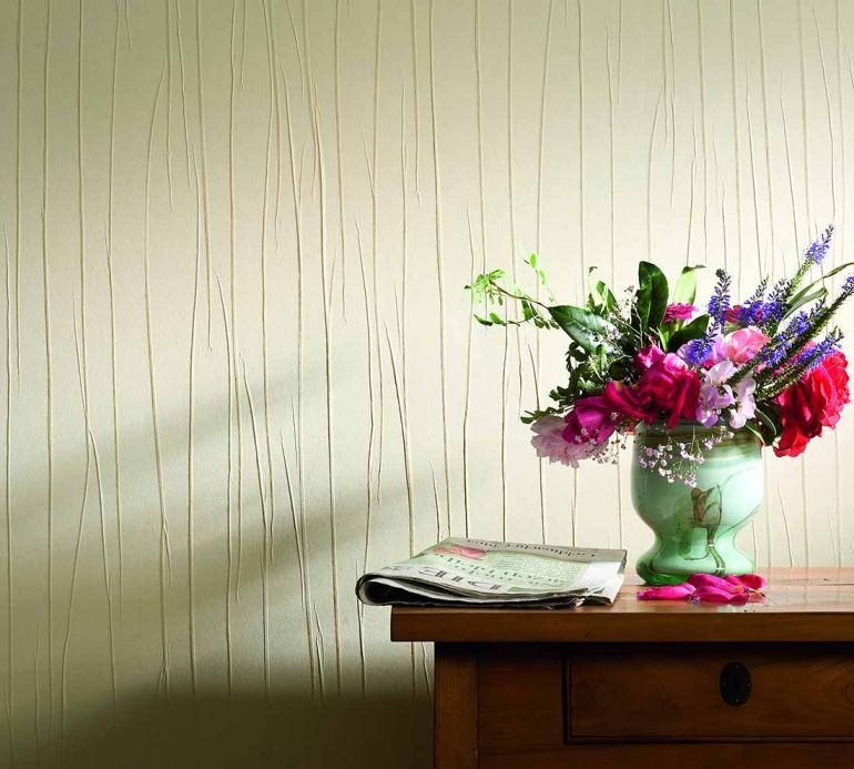 Archiv Wallpaper Crush Elegance 04 cream Room View