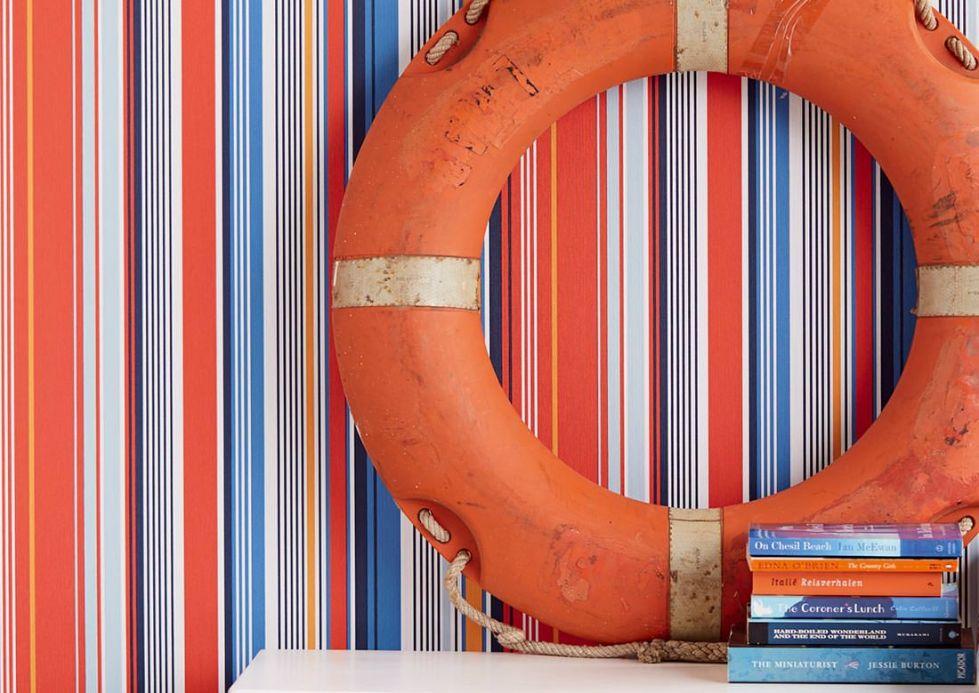 Striped Wallpaper Wallpaper Sinja red Room View