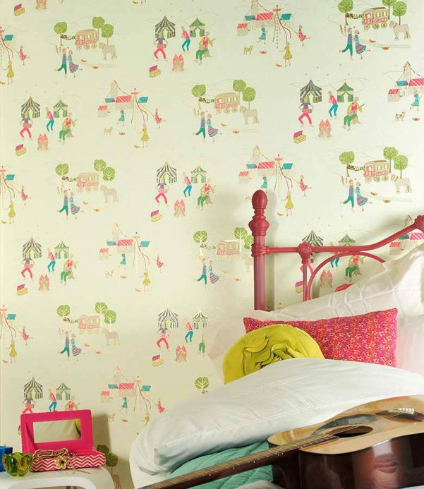 Archiv Wallpaper Cosima cream Room View