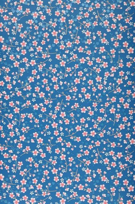 Papel de parede Felicia Mate Florets Azul Marrom pálido claro Azul lustre Violeta urze Branco
