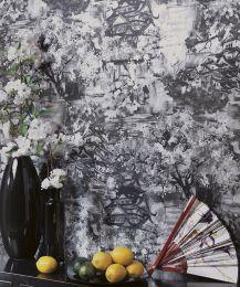 Papel pintado Kavakul gris negruzco