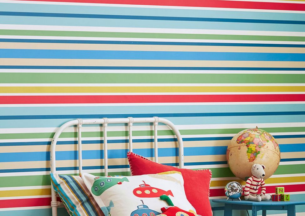 Children's Wallpaper Wallpaper Jama blue Room View