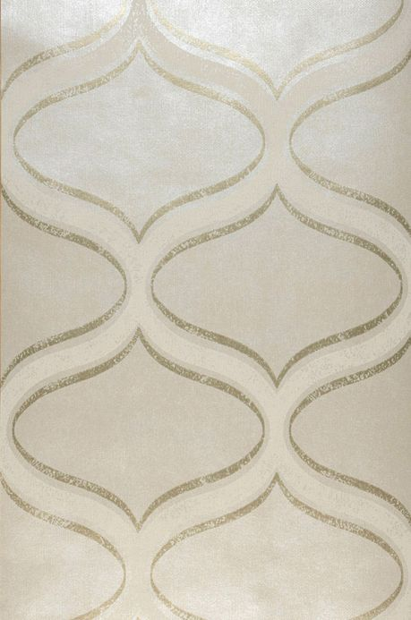 Papier peint design Papier peint Hulda crème chatoyant Largeur de lé