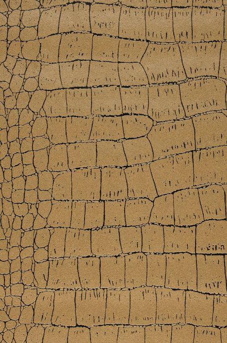 Papier peint imitation cuir Papier peint Skin Effect doré mat Détail A4