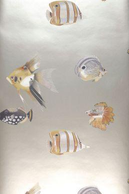 Papier peint Servatius beige nacré clair Largeur de lé