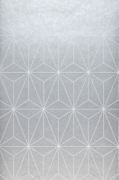 Papel de parede Morton cinza prateado