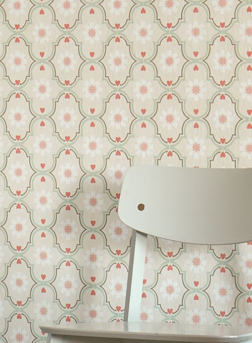 Vintage wallpaper Wallpaper Efigenia pastel green Room View