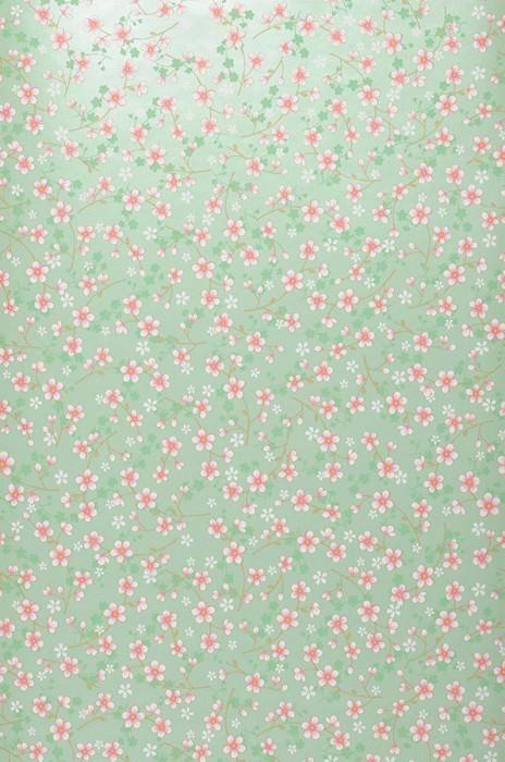 Papier peint Felicia Motif mat Surface chatoyante Fleurons Vert blanc Vert pâle Brun clair pâle Violet bruyère Blanc
