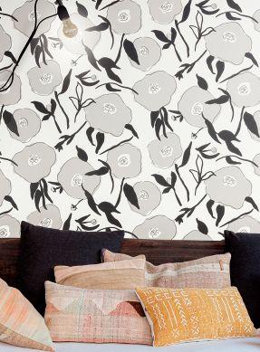 Wallpaper Kanoko grey Raumansicht