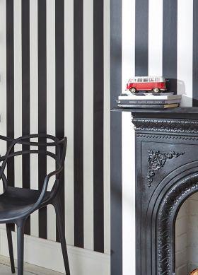 Papel pintado Zuleika negro Ver habitación