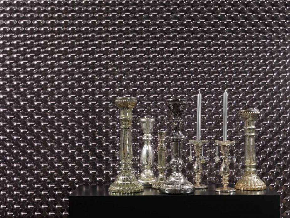 Metallic Wallpaper Wallpaper Cassiopeia black grey lustre Room View