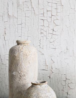 Papel pintado Comorra blanco parduzco Ver habitación