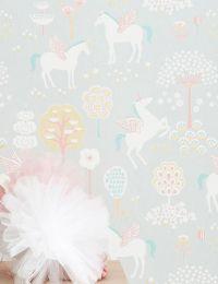 Wallpaper True Unicorns light grey