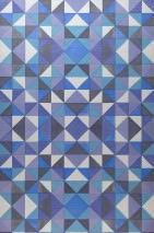 Wallpaper Sirius Matt Geometrical elements Blue Cream Pearlescent blackberry Black blue Turquoise blue