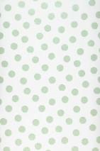 Carta da parati Corbetta Disegno brillante Superficie di base opaca Punti Bianco crema Verde pastello luccicante