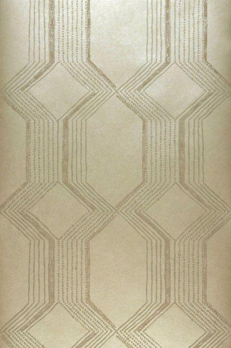 Papier peint billes de verre Papier peint Xander doré Largeur de lé