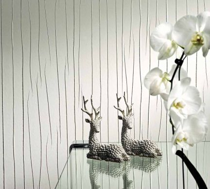 Wallpaper Crush Couture 06 light grey white Raumansicht