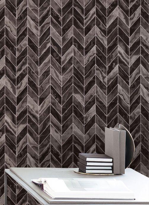 Archiv Wallpaper Sassari grey tones Room View