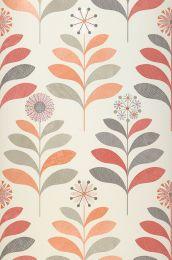 Papel de parede Tessa laranja brilhante