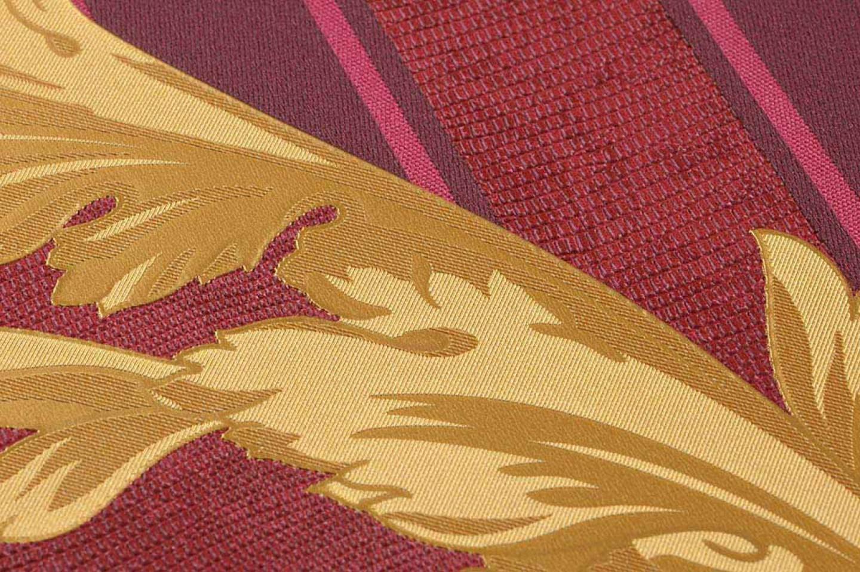 Tapete fotini rubinrot blassrot gold mattgold weinrot for Tapete weinrot
