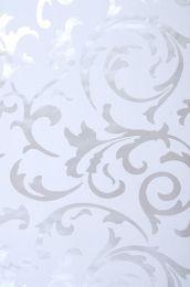 Papel de parede Medusa branco acinzentado