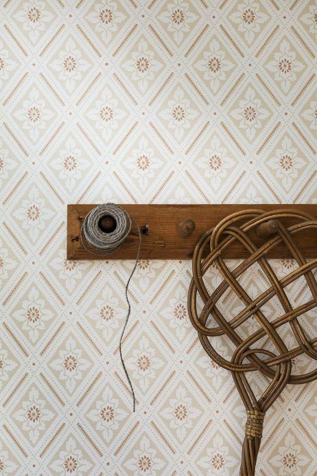 Classic Wallpaper Wallpaper Scala beige Room View