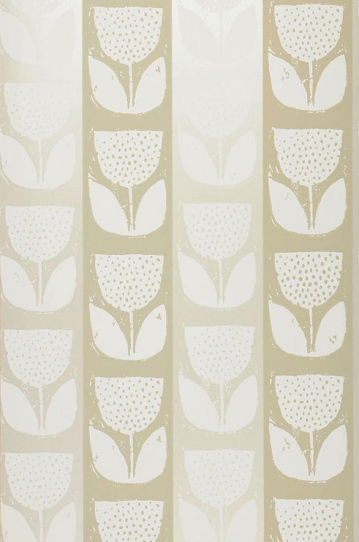 ana cremeweiss gelbgrau kieselgrau schimmer florale tapeten tapetenmuster tapeten der 70er. Black Bedroom Furniture Sets. Home Design Ideas