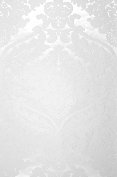 Wallpaper Rajah Matt pattern Shimmering base surface Baroque damask Cream White