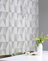 Wallpaper Lenus Matt Geometrical elements Cream Grey white shimmer Platinum grey Silky grey Stone grey
