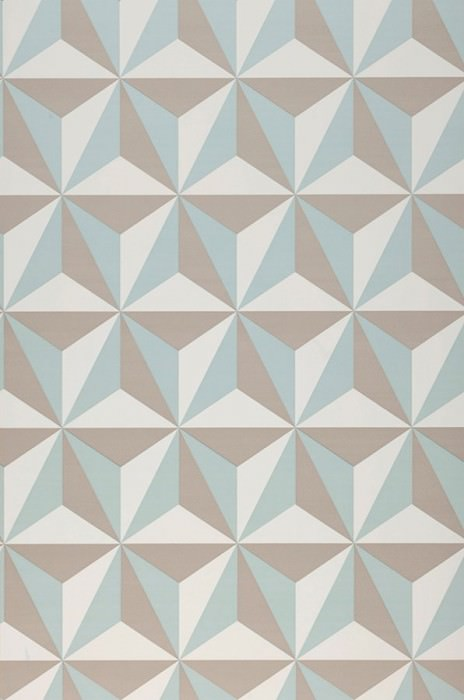 Wallpaper Limal Matt Graphic elements Cream Grey beige Mint turquoise