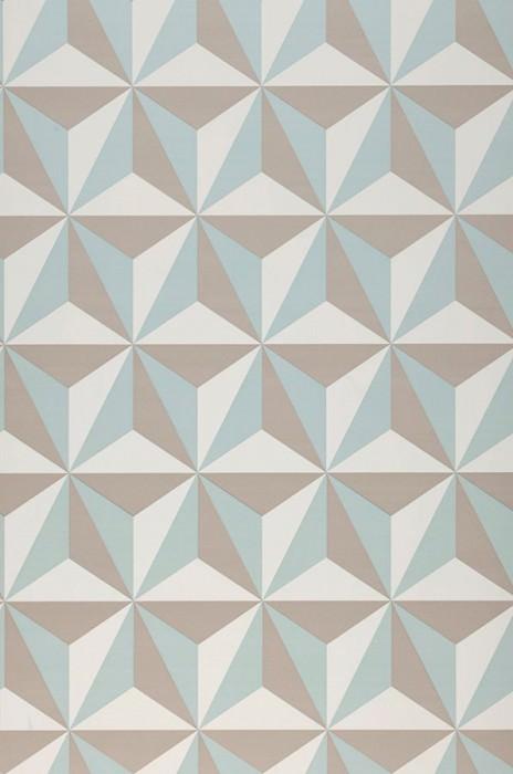 Papel de parede Limal Mate Elementos gráficos Branco creme Bege acinzentado Turquesa menta