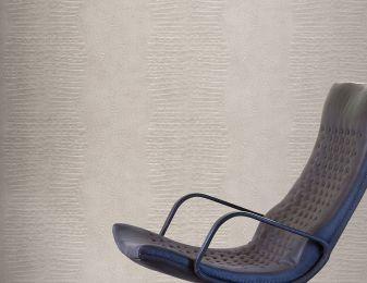 Papel de parede Gavial cinza sedoso