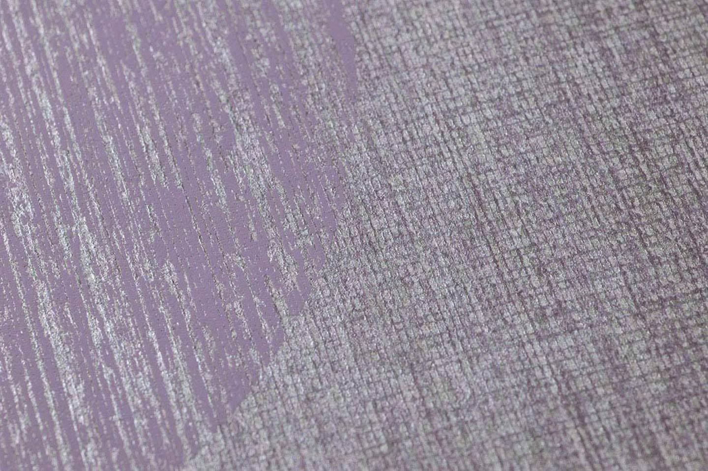 Carta da parati sabulana viola pastello argento viola for Carta parati argento