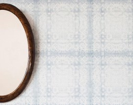 Wallpaper Melisande Matt Lace Blue grey Cream