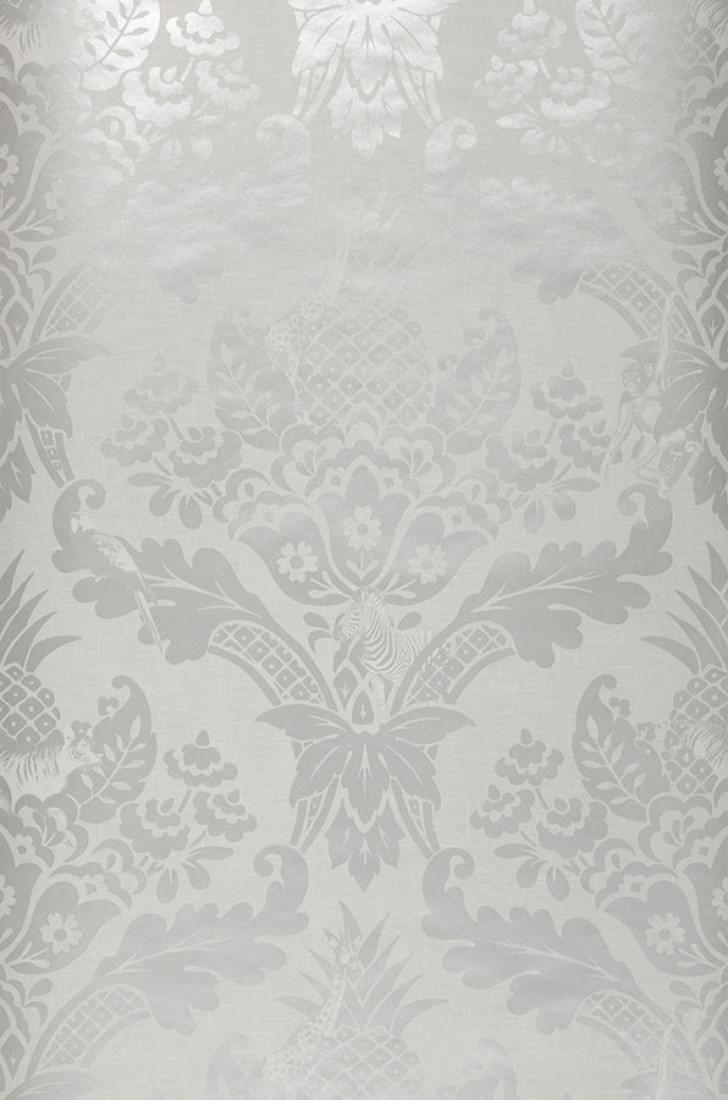 Papel pintado merino gris luminoso gris claro perla - Papeles pintados de los 70 ...