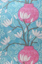 Papel pintado Habita azul turquesa