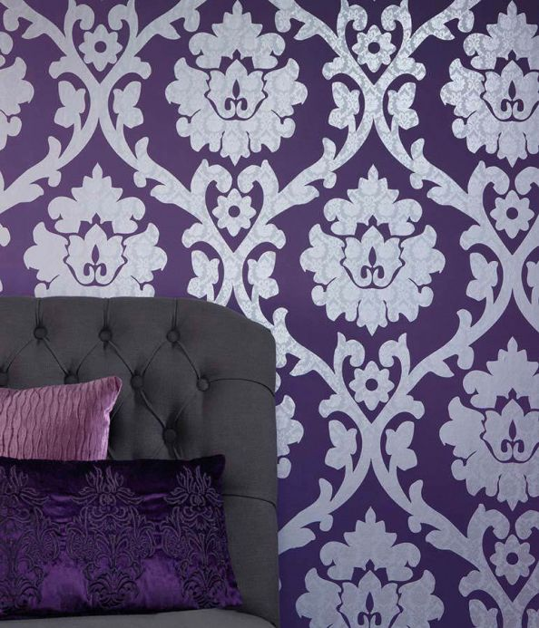 Archiv Wallpaper Maresa violet Room View
