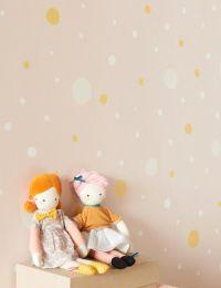 Papel pintado Confetti rosa pálido
