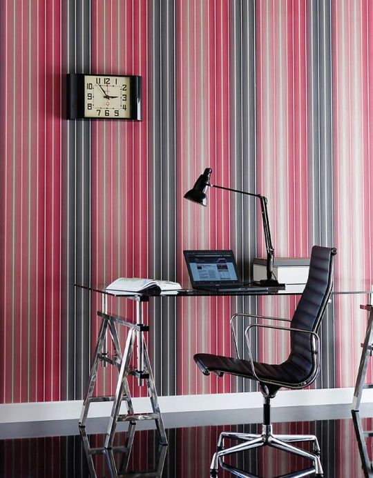 Archiv Wallpaper Lino pale red Room View