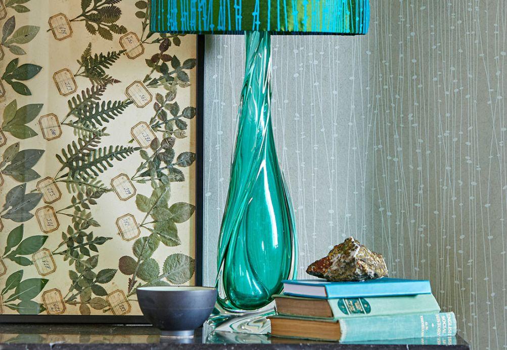 Streifentapeten Tapete Matisse Hellgrau Raumansicht