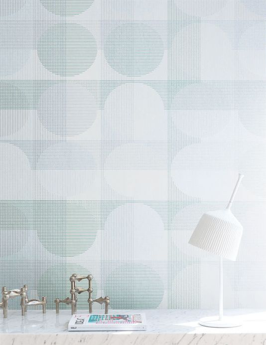 Archiv Wallpaper Henrio pearl green Room View
