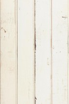 Wallpaper Scrapwood 08 Matt Shabby chic Imitation wood Cream Pale brown Grey beige Grey brown Light grey