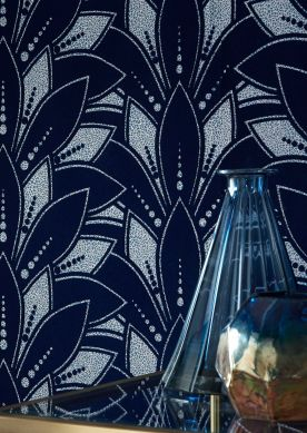 Wallpaper Fadila night blue Room View