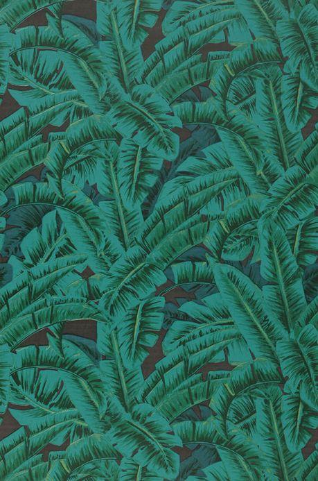 Papier peint botanique Papier peint Flavia tons de vert Largeur de lé