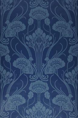 Papier peint Sibia bleu foncé Bahnbreite