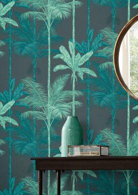 Papel pintado Tamaris turquesa menta Ver habitación