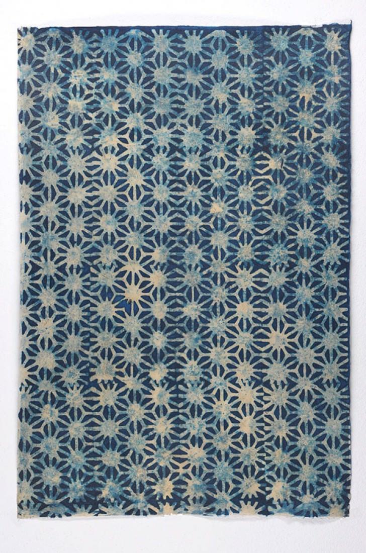 Papel pintado methok beige azul oscuro papeles de los 70 - Papel pintado de los 70 ...