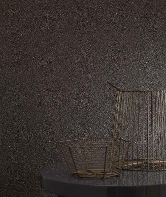 Papier peint Mica Classic 01 gris noir Vue pièce